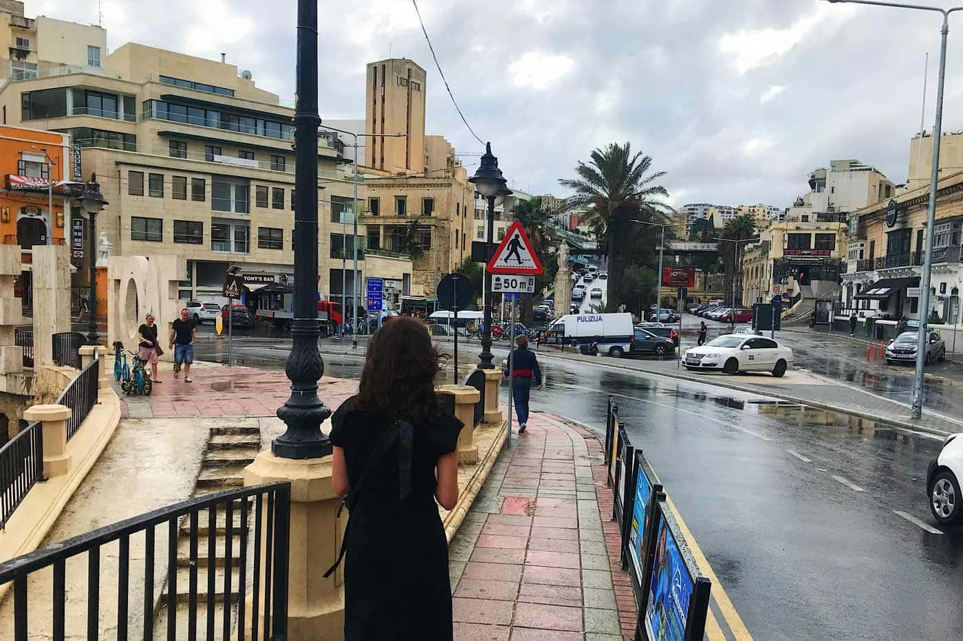 Rainy weather in St Julians
