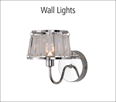 A range of wall lights to match our table lights, ceiling fittings and floor lamps