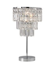 Glamorous style table lamps
