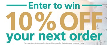 Win 10% off your next trade order