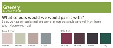Pantone colour of the year - Greenery