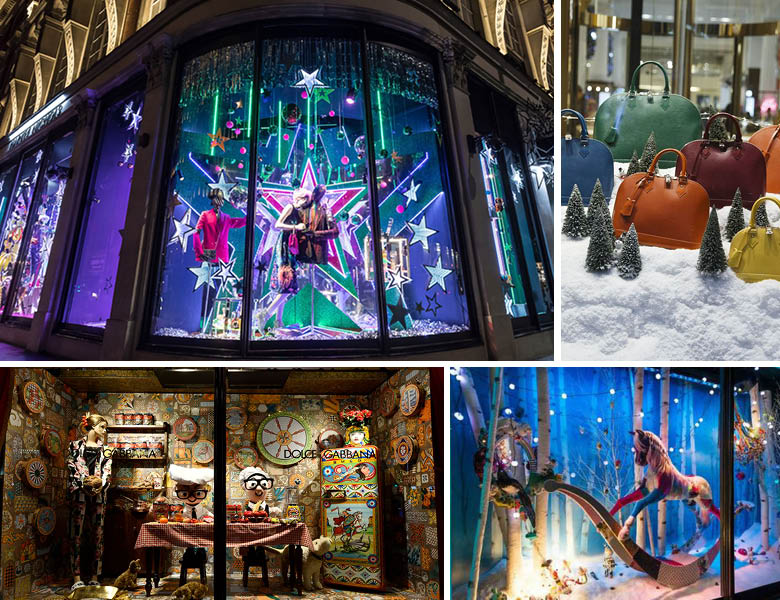 Extravagant Colour Christmas Window Display