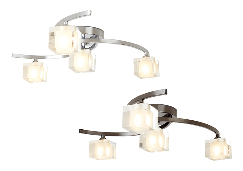 Ice 4 Arm Ceiling Fitting