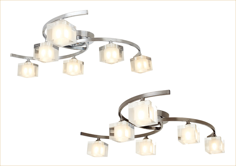 Ice 6 Light Ceiling Fitting