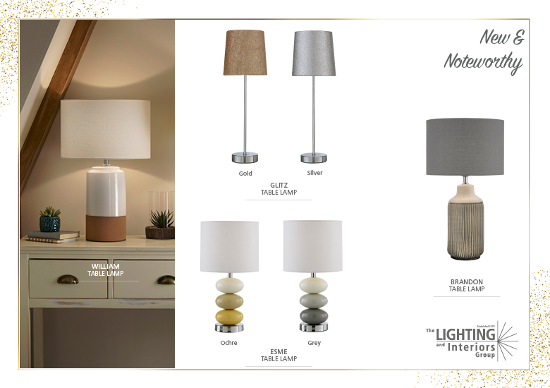 New & Noteworthy Table Lamps Trade Customers