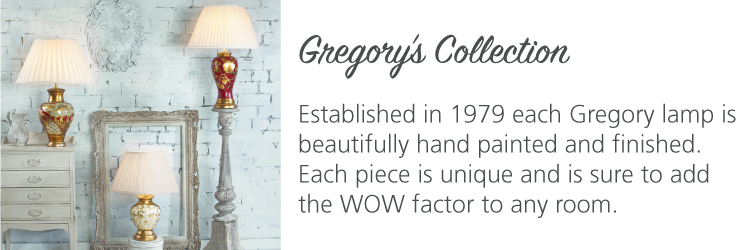 Inspired by nature, our Gregory's table lamps are a range of timeless classics