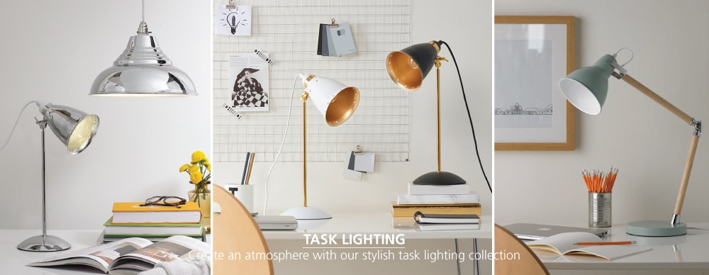 Task Lighting - Stylish desk lamps