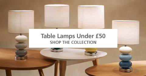 Lighting Table Lamps Under £50