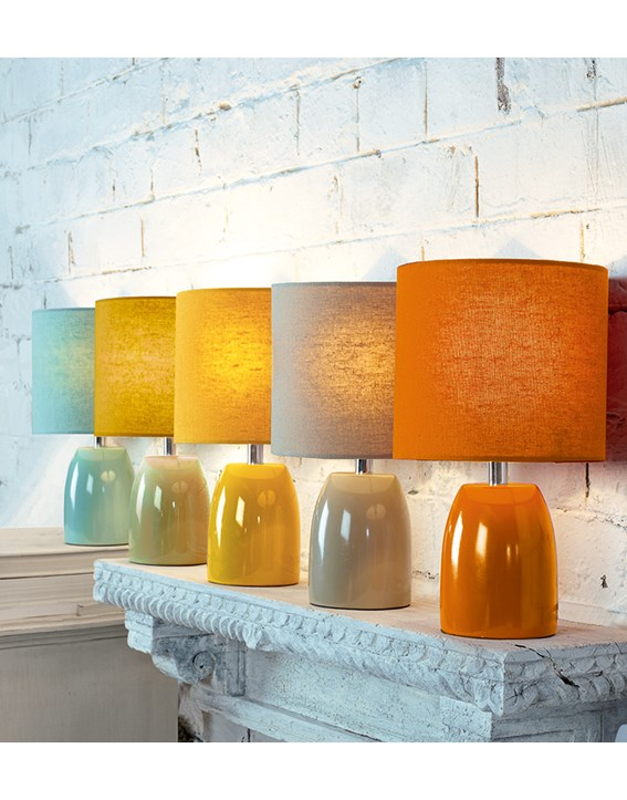 Opal Table Lamp Ochre Yellow