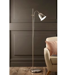Seb Floor Lamp | Brushed Chrome