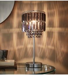 Chloe Smoke Acrylic Table Lamp