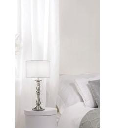 Georgie Table Lamp - Satin Nickel