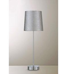 Glitz Tall stick Table Lamp - Silver