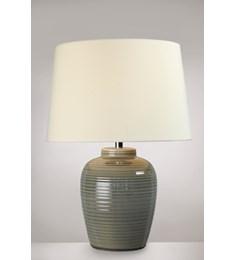Lume Barrel Table Lamp - Warm Grey