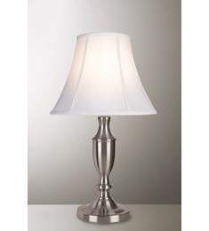 Vienna Candlestick Small Table Lamp - Satin Chrome