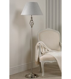 Barley Twist Floor Lamp - Chrome
