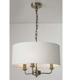 Grantham 3 Light Ceiling Fitting - Antique Brass