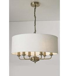 Grantham 6 Light Ceiling Fitting - Antique Brass