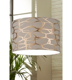 Keira Pendant Shade Grey | Rose Gold
