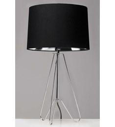 Ziggy Chrome Lamp With Black Shade