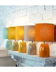 Opal Table Lamp - Burnt Orange