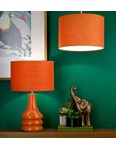 "12"" Raj cylinder Pendant Shade - Burnt Orange"