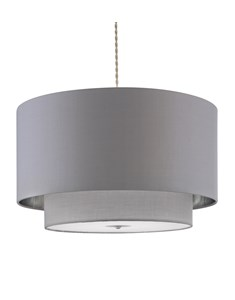 Madaline 2 Tier Pendant Shade - Grey | Chrome | Luxurious Large Ceiling Shade