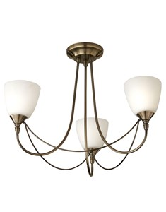 Nottingham 3 Light Ceiling Fitting - Antique Brass | Multi Light