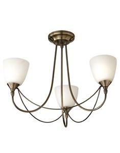 Nottingham 3 Light Ceiling Fitting - Antique Brass | Multi Light