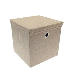 Storage Box with Lid - Taupe | 30cm x 30cm Foldable Box