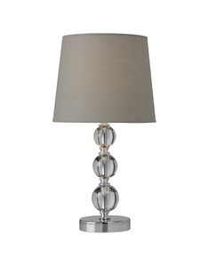 Orby Table Lamp - Grey | Acrylic & Chrome Table Lamp