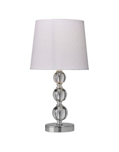 Orby Table Lamp - White | Acrylic & Chrome Table Lamp