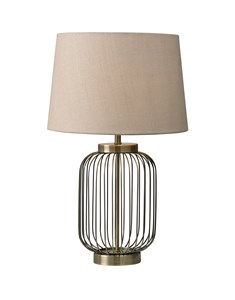 Nicholas Table Lamp | Antique Brass Cage Table Lamp