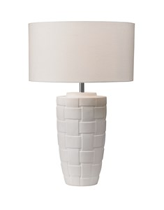 Brady Table Lamp | Large White Ceramic Table Lamp