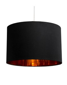 Bjorn Pendant Shade - Black | Gold Inner Ceiling Shade