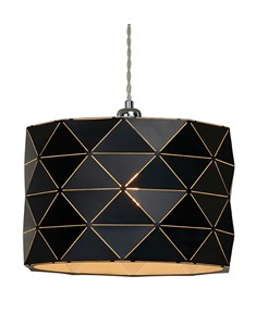 Shadow Pendant Shade - Black | Geometric Metal Ceiling Shade