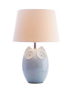 Hector Owl Table Lamp - Blue | Ceramic Animal Table Lamp