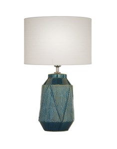 Safi Table Lamp Teal | Ceramic Detailed Table Lamp