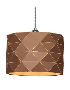 Shadow Pendant Shade - Caramel | Geometric Metal Ceiling Shade