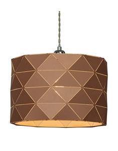 Shadow Pendant Shade - Caramel | Geometric Metal Ceiling Shade