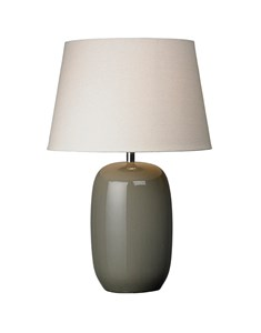 Olivio Table Lamp - Grey | Ceramic Gloss Oval Table Lamp