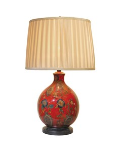 Manarola Table Lamp | Red Traditional Table Lamp