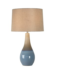 Marcin Table Lamp - Coastal Blue | Ceramic Ombre Table Lamp