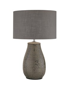 Large Grey Glazed Ceramic Table Lamp
