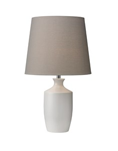 Ernest Table Lamp - White | Metal contemporary Table Lamp