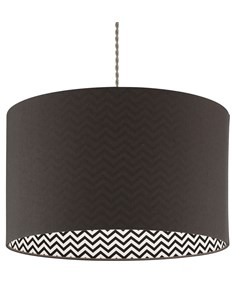 Zigor Pendant Shade - Grey | Chevron Inner Ceiling Shade