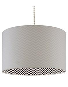 Zigor Pendant Shade - White | Chevron Inner Ceiling Shade