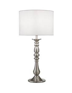 Georgie Table Lamp - Satin Nickel | Candlestick Style Table Lamp