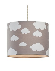 Cloudy Day Pendant Shade - Grey | Cloud Printed Shade