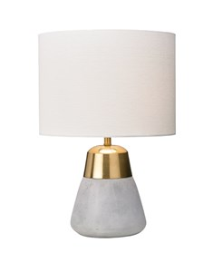 Jasper Gold & Ivory Table Lamp | Concrete & Metallic Table Lamp